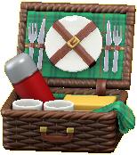 ピクニックバスケットのグリーンの画像