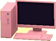 デスクトップPCのピンクの画像