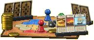 ボードゲームの陣取りの画像