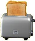 ポップアップトースターのシルバーの画像