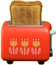 ポップアップトースターのレッドの画像