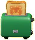ポップアップトースターのグリーンの画像