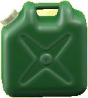 ポリタンクのグリーンの画像