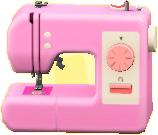 ミシンのピンクの画像