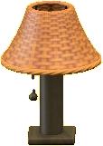 ラタンのテーブルランプのレッドブラウンの画像