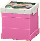 レコードボックスのピンクの画像