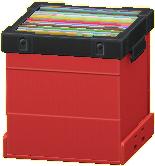 レコードボックスのレッドの画像