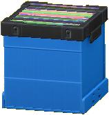レコードボックスのブルーの画像