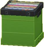レコードボックスのグリーンの画像