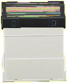 レコードボックスのホワイトの画像