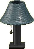 ラタンのテーブルランプのグレーの画像