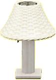 ラタンのテーブルランプのホワイトの画像