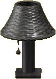 ラタンのテーブルランプのブラックの画像