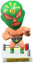 ACNH - The Green version of Throwback Wrestling Figure