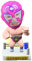 ACNH - The Pink version of Throwback Wrestling Figure