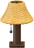 ラタンのテーブルランプのライトブラウンの画像