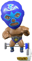 ACNH - The Blue version of Throwback Wrestling Figure