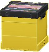 レコードボックスのイエローの画像
