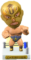 ACNH - The Gold version of Throwback Wrestling Figure
