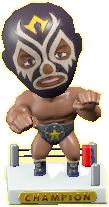 ACNH - The Black version of Throwback Wrestling Figure