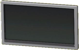 かべかけテレビ 50インチのシルバーの画像