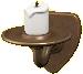 かべかけのキャンドルのブロンズの画像