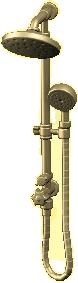 シャワーセットのゴールドの画像