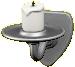 かべかけのキャンドルのシルバーの画像