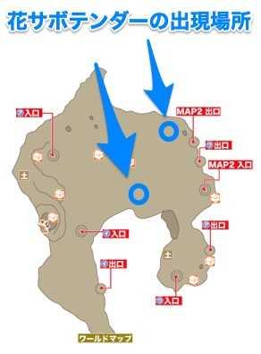 出現場所マップ