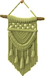 マクラメタペストリーのグリーンの画像