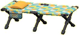 キャンプベッドのポップパターンの画像