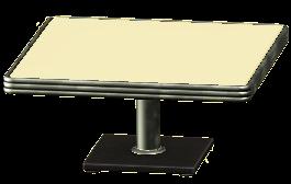 ダイナーなダイニングテーブルのクリームの画像