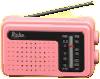 けいたいラジオのピンクの画像