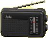 けいたいラジオのブラックの画像