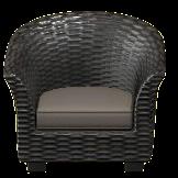 ラタンのソファのブラックの画像