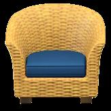 ラタンのソファのライトブラウンの画像