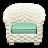 ラタンのソファのホワイトの画像