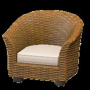 ラタンのソファの画像