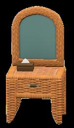 ラタンのドレッサーのレッドブラウンの画像