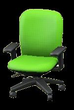 オフィスのチェアのグリーンの画像