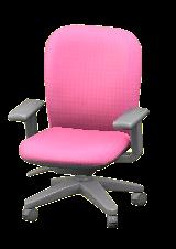 オフィスのチェアのピンクの画像