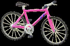 マウンテンバイクのピンクの画像