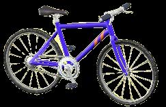 マウンテンバイクのブルーの画像