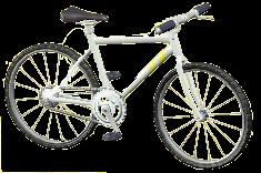 マウンテンバイクのホワイトの画像