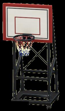 バスケットのゴールのブラックの画像