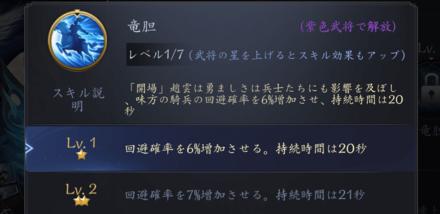 龍の覇業 武将のスキル種類について3