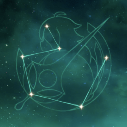 主人公(風)の星座画像