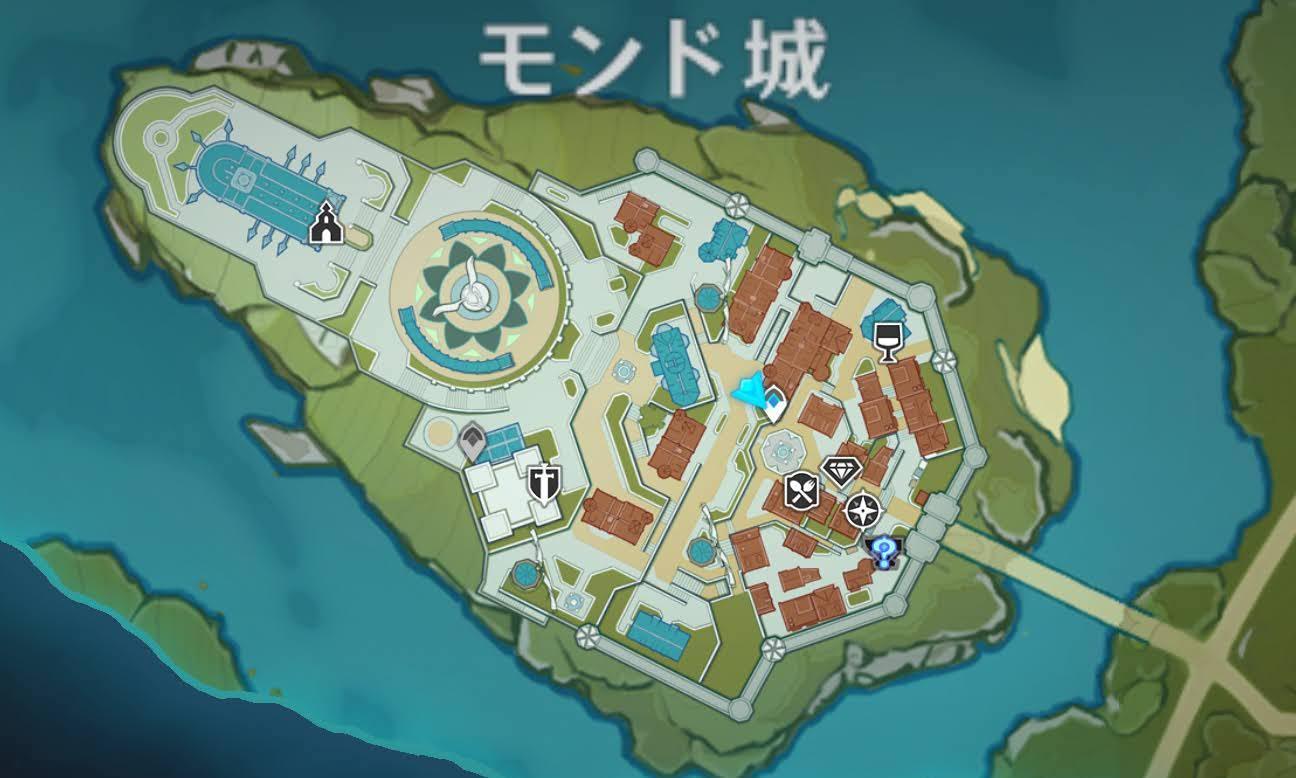 モンド城の地図