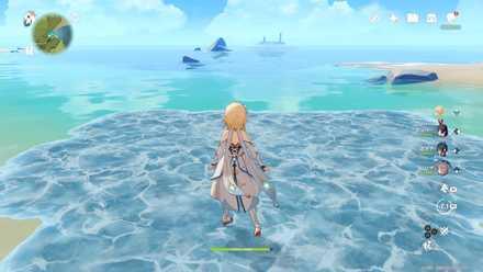 氷元素を駆使して海を渡る画像