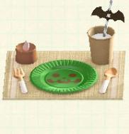 ハロウィンテーブルセッティングのグリーンの画像